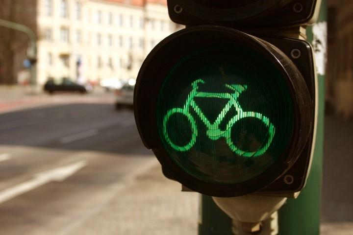 Grüne Ampel für Radfahrer
